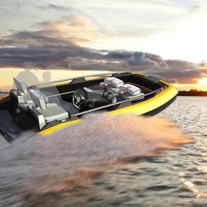 Beim Bau von Sportbooten soll der neue Verbundwerkstoff eingesetzt werden.